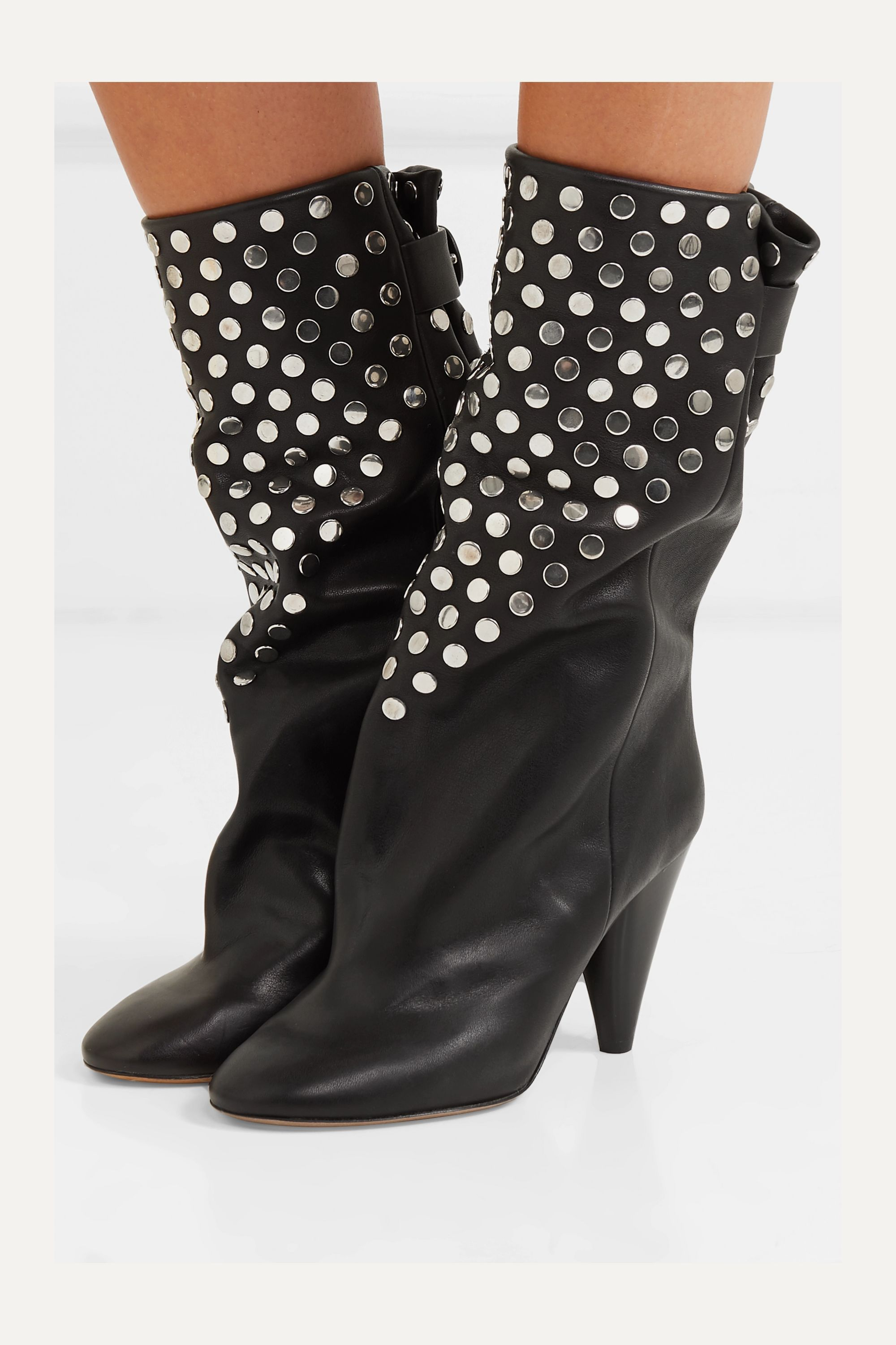 Isabel Marant Lakfee studded leather ankle boots