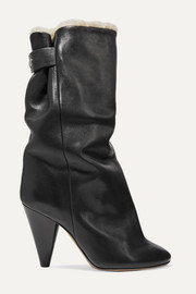 Isabel Marant Lakfee shearling-lined leather ankle boots