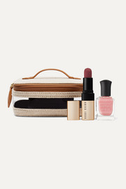 Paravel Mini See All vegan leather-trimmed canvas and TPU cosmetics case