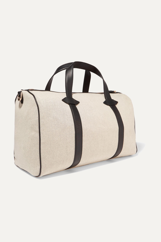 Paravel Mini Main Line Duffel leather-trimmed canvas weekend bag