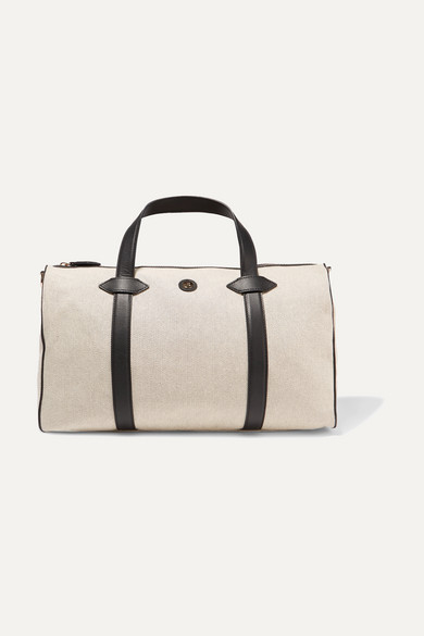 Mini Main Line Duffel Leather Trimmed Canvas Weekend Bag