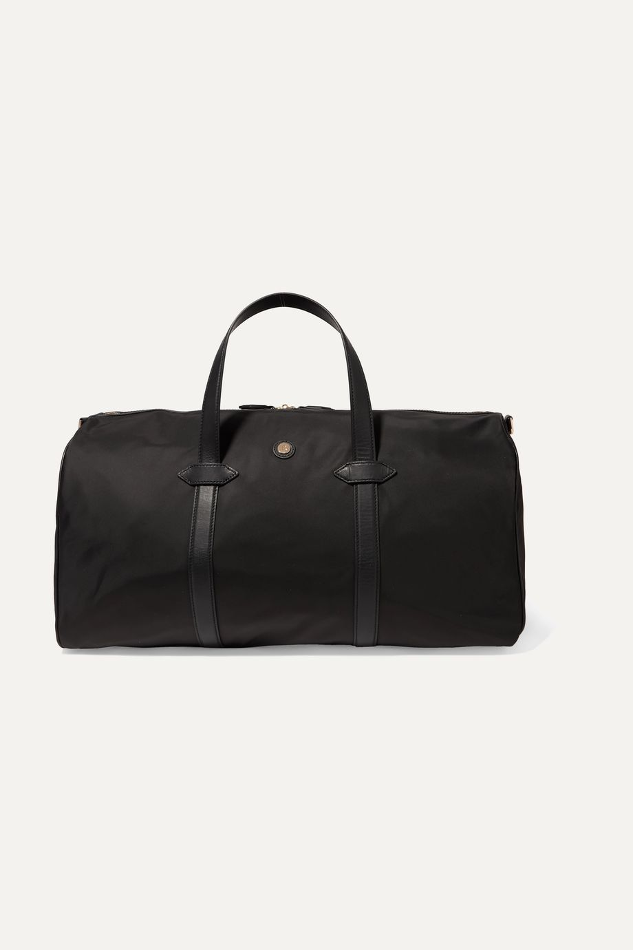 Paravel Leather-trimmed shell weekend bag
