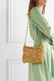 Capria leather, resin and gold-tone shoulder bag