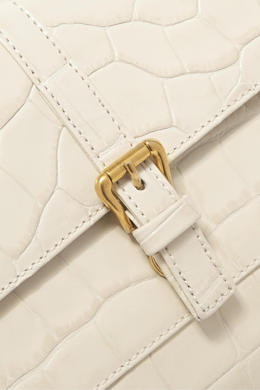 BY FAR Miranda croc-effect leather shoulder bag