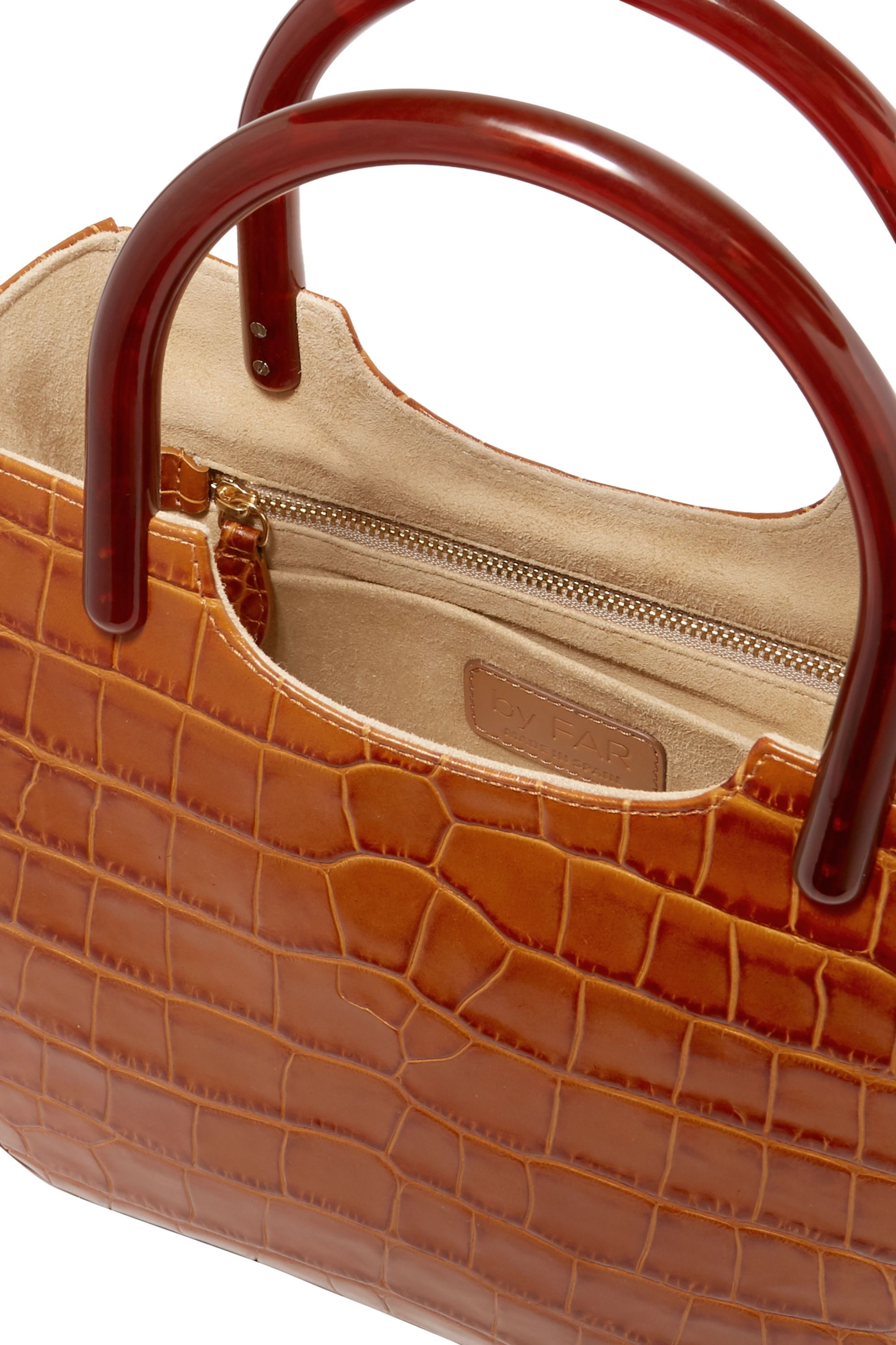 BY FAR Eric croc-effect leather and resin tote