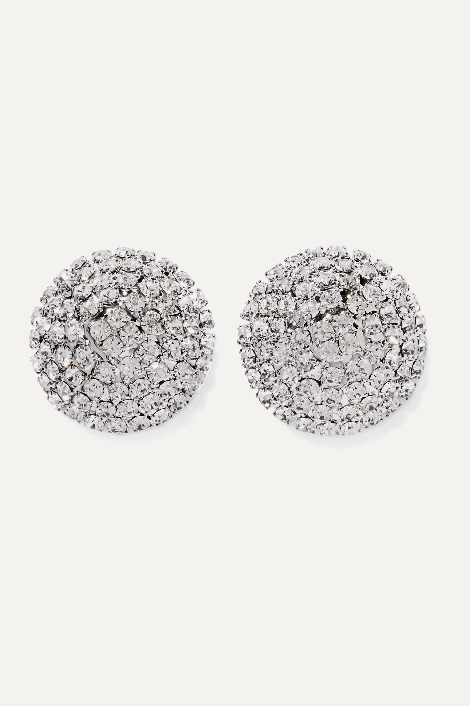 Alessandra Rich Oversized silver-tone crystal earrings
