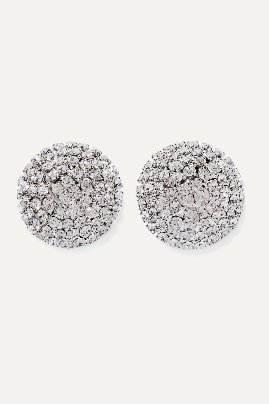 Alessandra Rich Oversized silver-tone crystal earrings