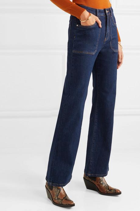 Jimbo high-rise wide-leg jeans