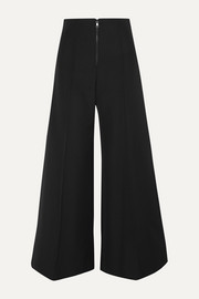 Kwaidan Editions Bonded wool and cotton-blend wide-leg pants