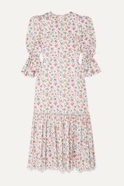 The Songbird tiered floral-print cotton midi dress