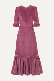 The Vampire's Wife Festival ruffled cotton-corduroy maxi dress