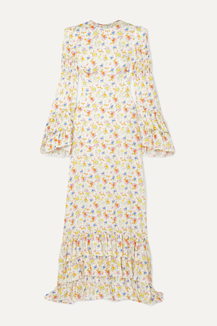 The Vampire's Wife | Tiered floral-print crepe maxi dress | NET-A-PORTER.COM