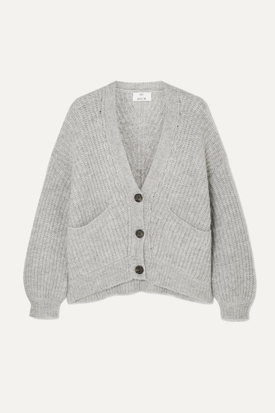 Ribbed Knit Cardigan by Allude