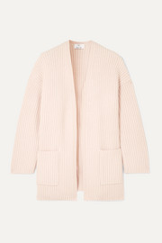 Allude Oversized ribbed cashmere cardigan