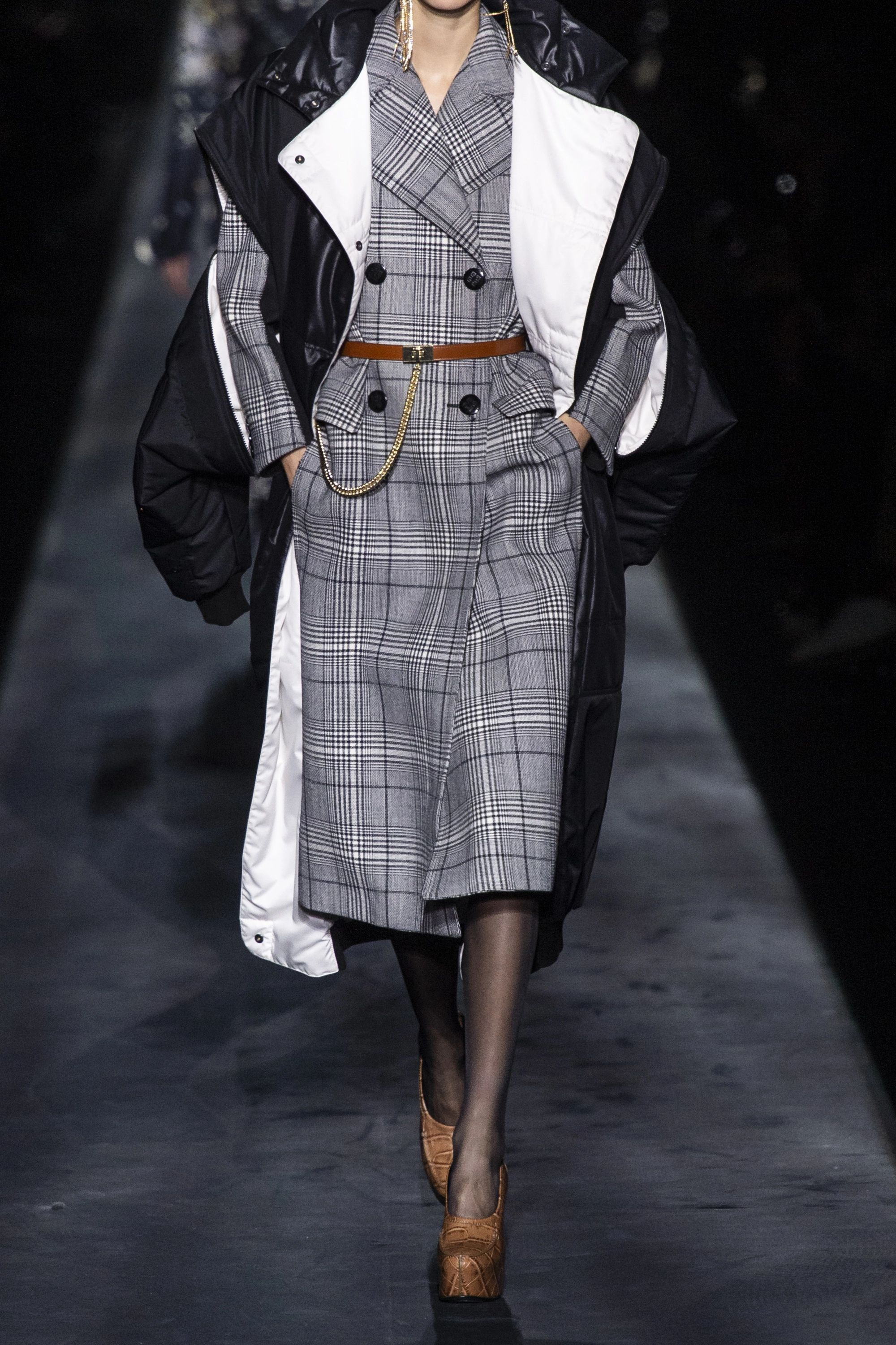 Givenchy Double-breasted Prince of Wales checked wool and wool-blend coat