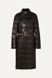 Bottega Veneta Chain-embellished quilted leather coat