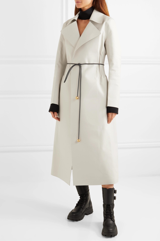 Bottega Veneta Belted bonded cotton coat