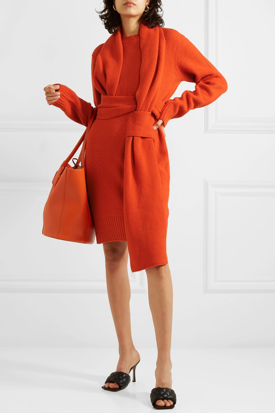 Bottega Veneta Belted wool dress