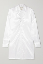 Ruched satin shirt