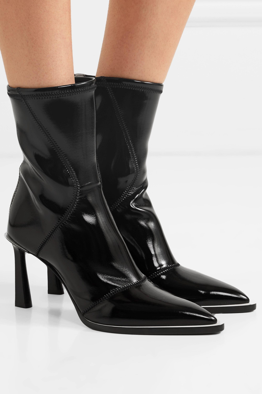 Fendi Two-tone glossed-neoprene ankle boots