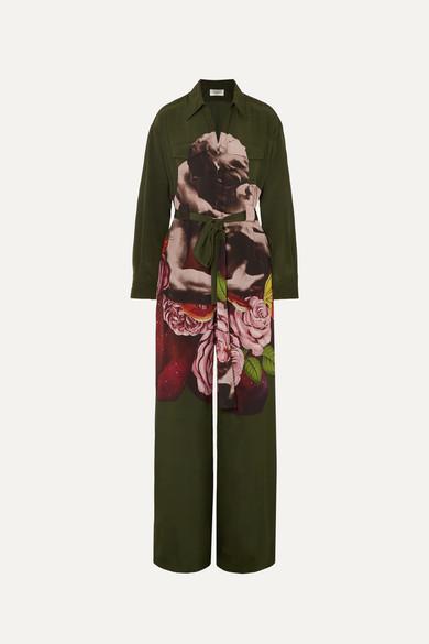 Printed Silk Georgette Jumpsuit by Valentino