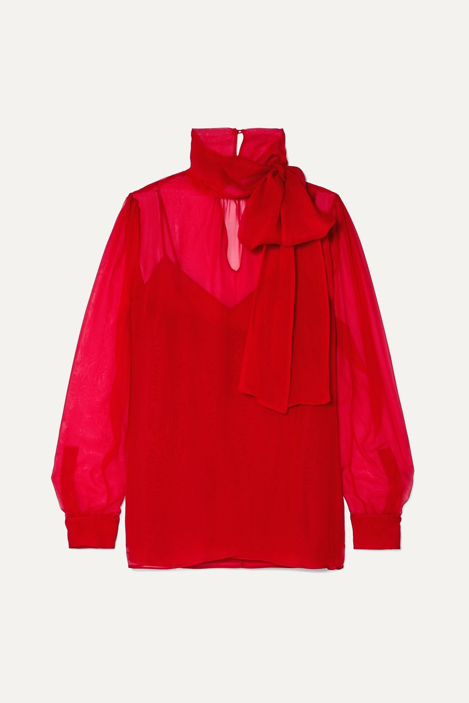 Valentino Pussy-bow georgette blouse