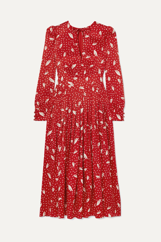 Alessandra Rich Silk-jacquard midi dress