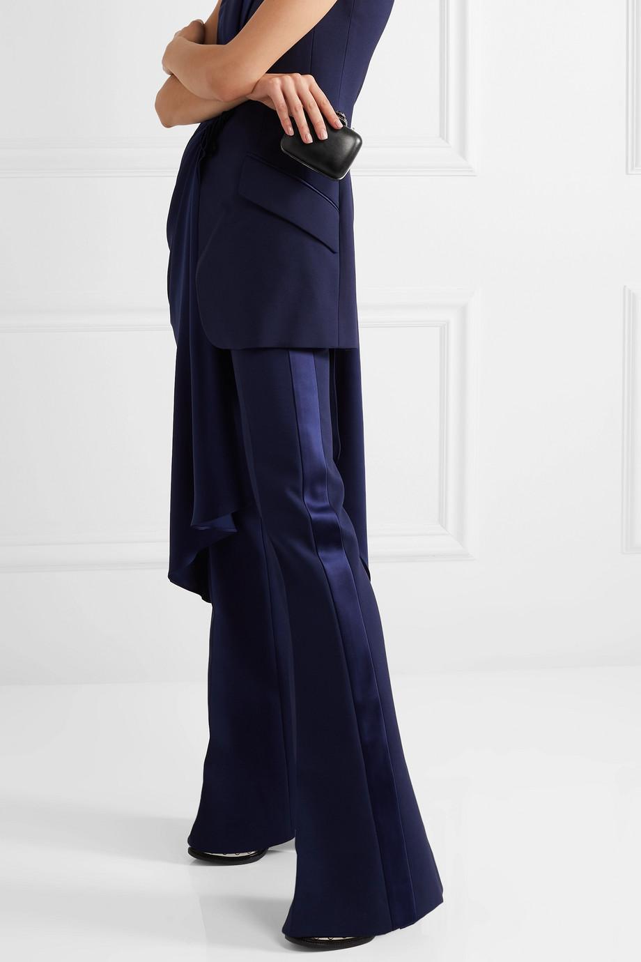 Alexander McQueen Crystal-embellished leather shoulder bag