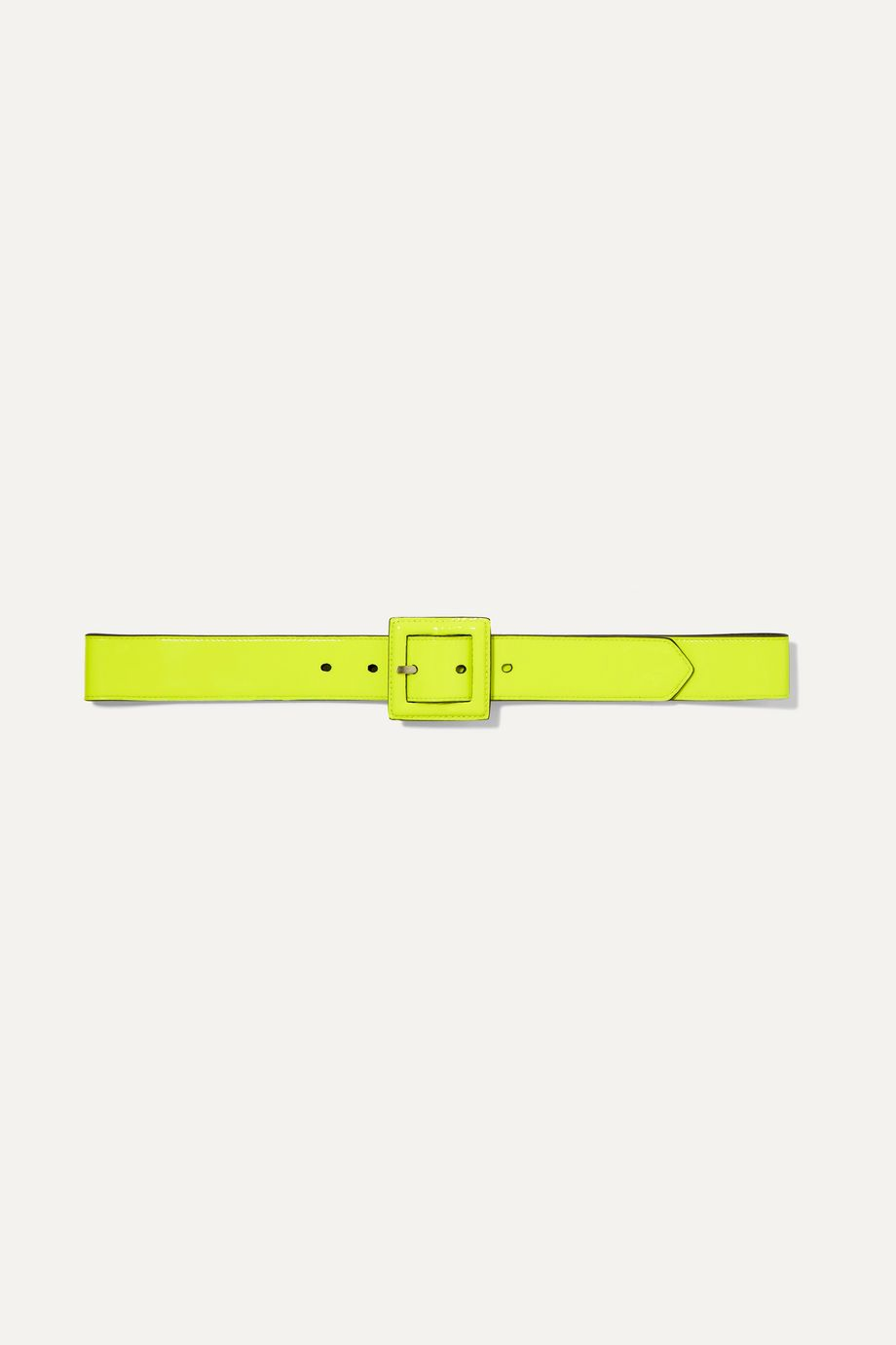 SAINT LAURENT Neon patent-leather belt