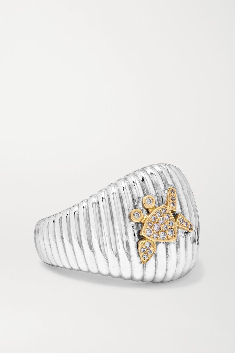 Yvonne Léon 18-karat white  and yellow gold diamond ring