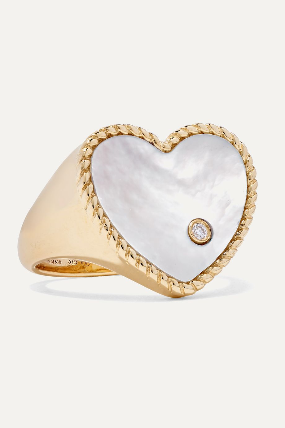 Yvonne Léon 9-karat gold, mother-of-pearl and diamond ring