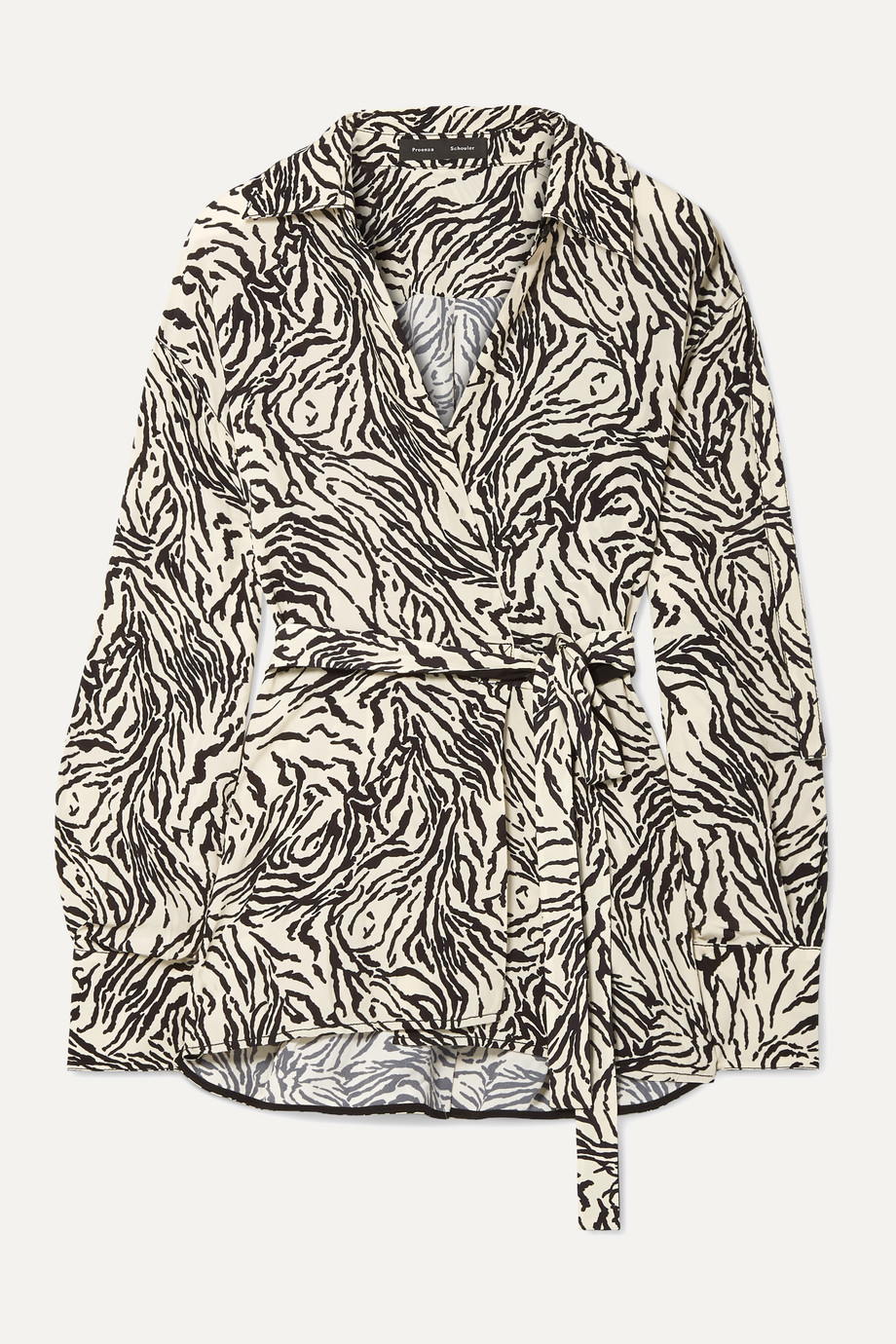 Proenza Schouler Printed crepe wrap top