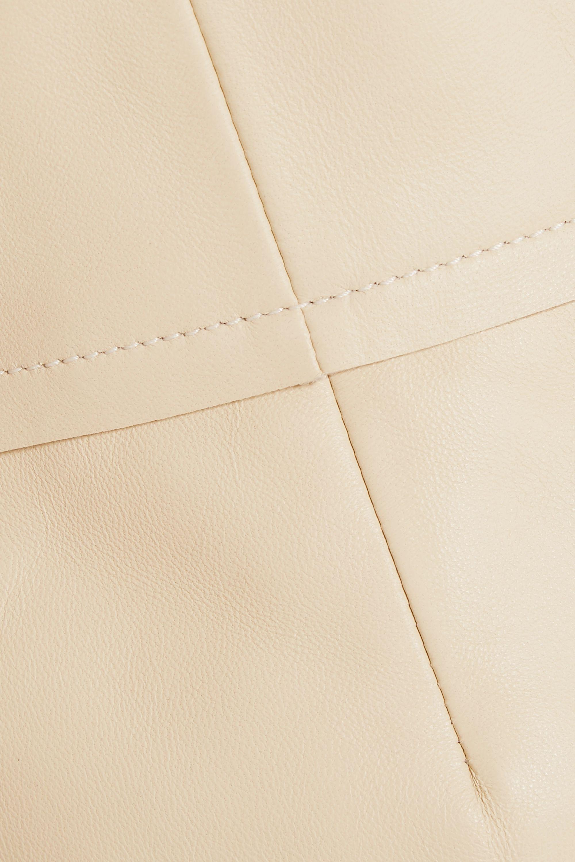 Proenza Schouler Leather peplum top