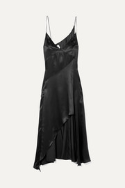 Niya asymmetric silk-satin dress