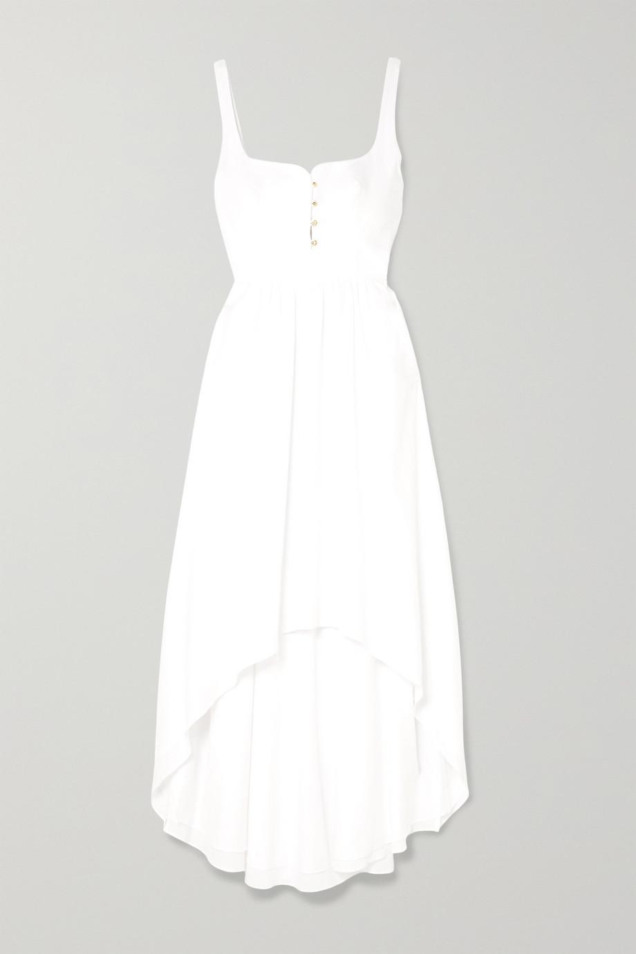 Esteban Cortazar | Asymmetric cotton midi dress | NET-A-PORTER.COM