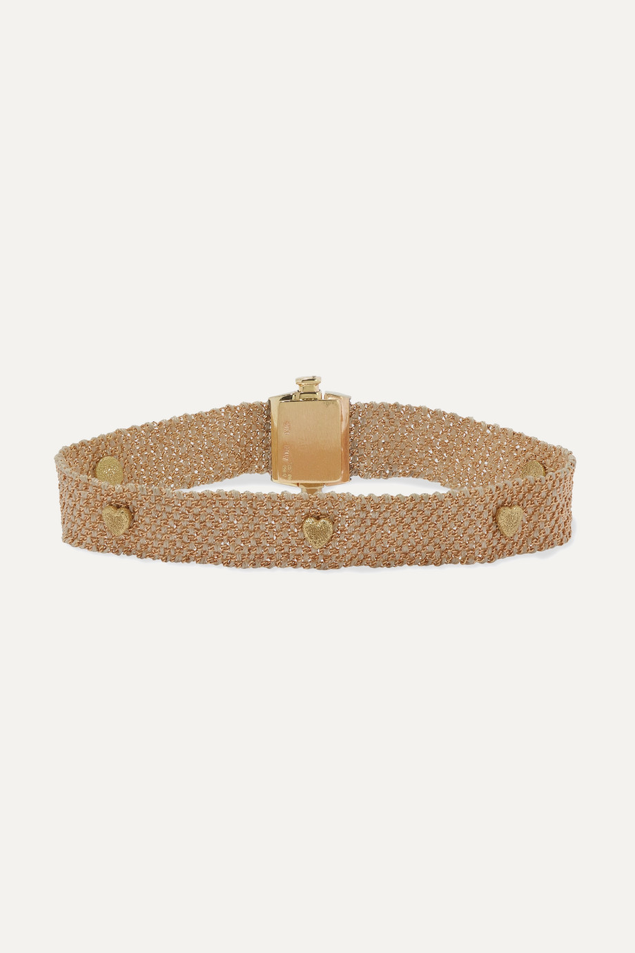 Carolina Bucci Bracelet en or 14 carats et soie à clous