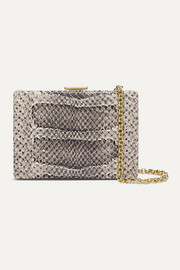 Anya Hindmarch Mini snake-effect leather shoulder bag