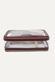 Anya Hindmarch Inflight leather-trimmed PVC cosmetics case