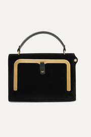 Anya Hindmarch Postbox small velvet and textured-leather tote