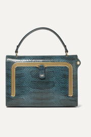 Anya Hindmarch Postbox small snake-effect leather tote