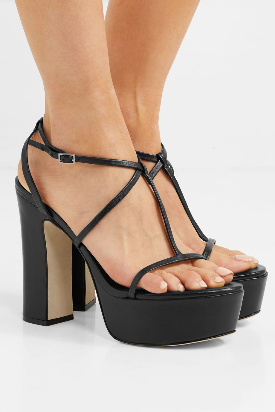 Cult Gaia Angela leather platform sandals