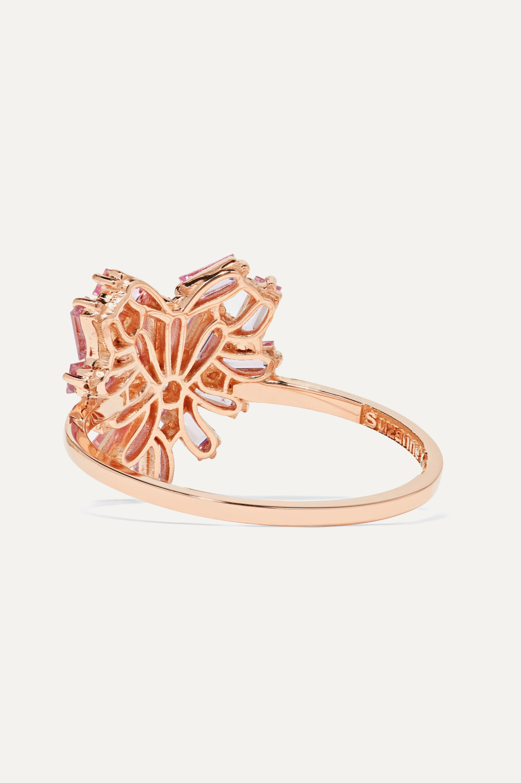 Suzanne Kalan 18-karat rose gold, sapphire and diamond ring