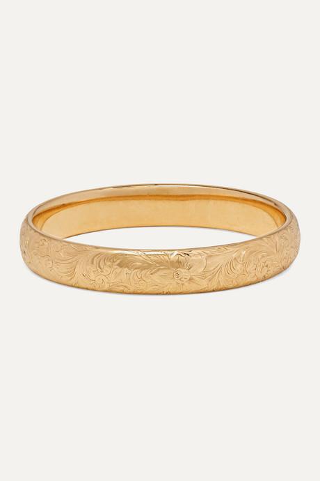 Gold 1910 14-karat gold bangle | Fred Leighton txVzQ3