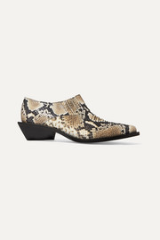 Dolores snake-effect leather ankle boots