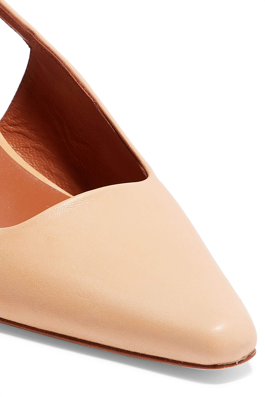 REJINA PYO Lois leather slingback pumps