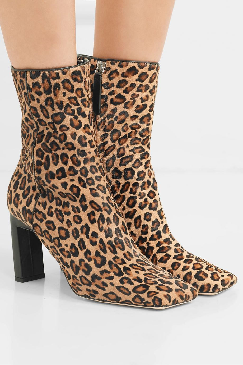 Wandler Isa leopard-print calf hair ankle boots