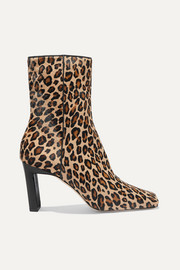 Wandler Isa leopard-print calf hair ankle boots