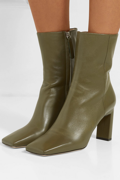 Isa leather ankle boots