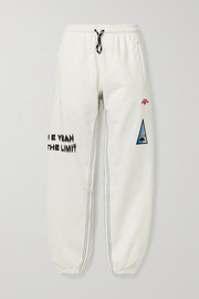adidas Originals By Alexander Wang Appliquéd printed cotton-jersey track pants