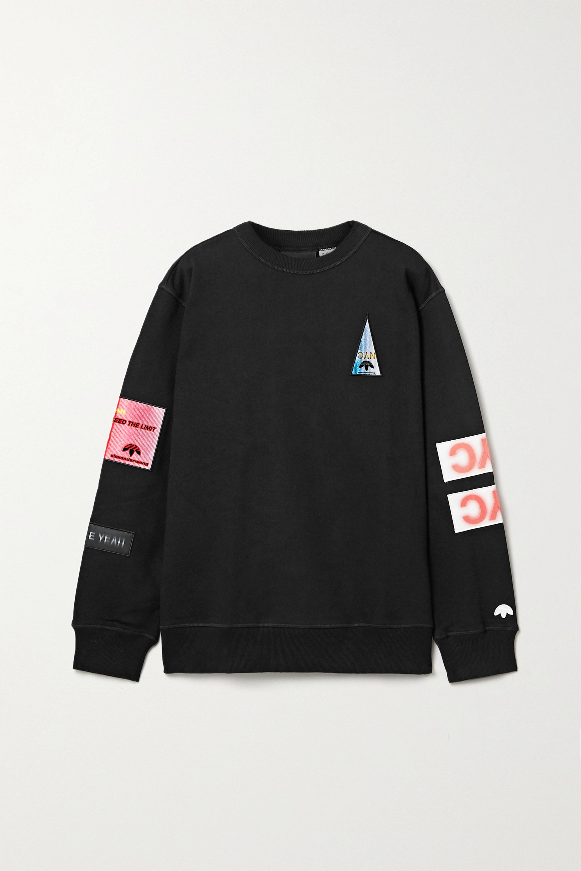 adidas Originals By Alexander Wang FLEX2CLUB Oversized-Sweatshirt aus Baumwoll-Jersey mit Applikationen